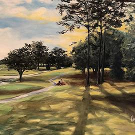 Approaching the 9th tee at Zellwood Station by Nancy Raborn