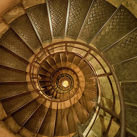 Arc de Triomphe Stairs by Morey Gers