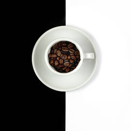 Aromatic Coffee beans on the pot by Michalakis Ppalis