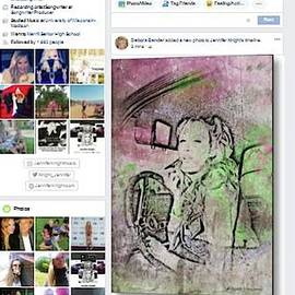 Artist Gaby Ethington On Jennifer Night Facebook by Debora Lewis