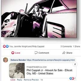 Artist Phil Cappiali On Jennifer Knight Facebook by Debora Lewis
