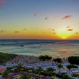 Aruban Sunset Panoramic by Scott McGuire