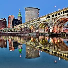 As Evening Falls on Cleveland by Frozen in Time Fine Art Photography