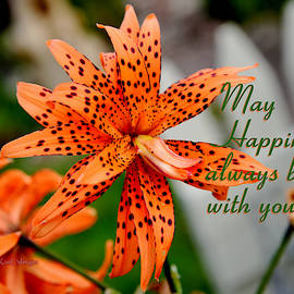 Asian Tiger Lily with Cheery Thought by Kae Cheatham