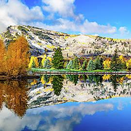 Aspen Colorado Autumn Mountain Landscape Panorama by Gregory Ballos
