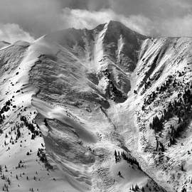 Aspen Snowmass Avalanche Chutes Black And White by Adam Jewell