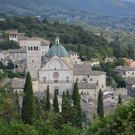 Assisi Town San Rufino From Above by Aicy Karbstein