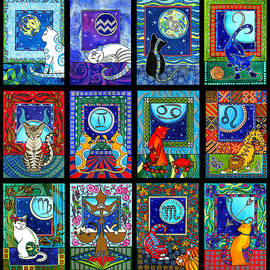 Astrology Cat Zodiacs by Dora Hathazi Mendes