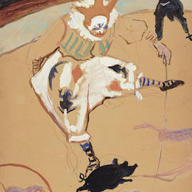 At The Circus Fernando - Medrano With A Piglet by Henri de Toulouse-Lautrec
