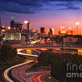 Linda D Lester - Atlanta Skyline at Sunset