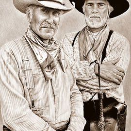 Augustus and Woodrow sepia by Andrew Read