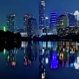 Austin Night Reflection by Frozen in Time Fine Art Photography