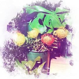 Australian Blooms - Bouquet in a Bucket by Miriam Danar