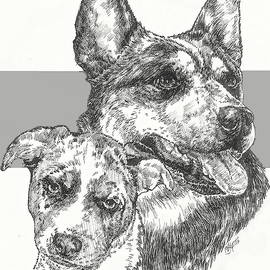 Australian Cattle Dog and Pup by Barbara Keith