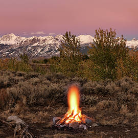 Autumn Camp Fire by Leland D Howard