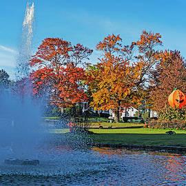 Autumn Foliage In The Lynn Goldfish Pond Lynn Ma by Toby McGuire