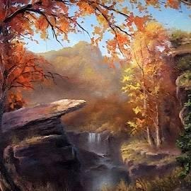 Autumn Forest Scene Near Maristonhurst L A S by Gert J Rheeders
