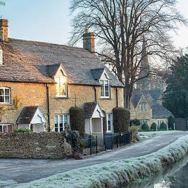 Autumn Frost In Lower Slaughter Cotswolds by Tim Gainey