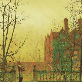 Autumn Gold By John Atkinson Grimshaw 1880 by John Atkinson Grimshaw