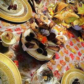 Autumn Gold Edible Art at Formal Tea by Laurel Adams