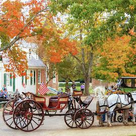Autumn in Colonial Williamsburg, Virginia by Marilyn DeBlock