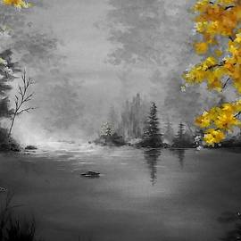 Autumn Misty Lake -Select Color by Danett Britt