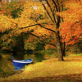 Autumn - My favorite fishing spot by Mike Savad
