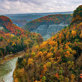 Autumn overlook by Mark Papke