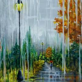 Rainy Day View- Autumn Stroll  by Danett Britt