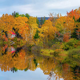 Autumn Reflection In New Hampshire by Mark Papke