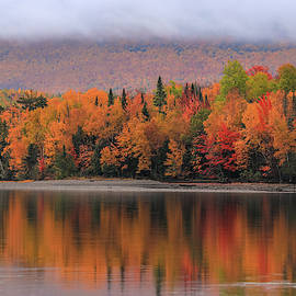 Autumn Reflections On First Roach Lake by Dan Sproul