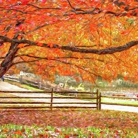 Autumn scenic at Holmdel Park in Holmdel, New Jersey by Geraldine Scull