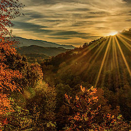 Autumn Sunset by Marcy Wielfaert