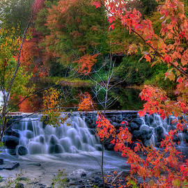 Joann Vitali - Autumn Waterfall - Peterborough, NH