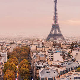 Autumnal Paris and the Eiffel Tower. by Maggie McCall