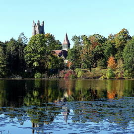 Autumnal Reflection of Wellesley College by Lyuba Filatova