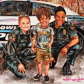 Awesome and BGPD Officers-All Smiles by Misha Ambrosia
