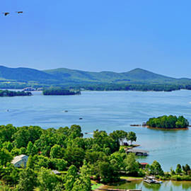 Awesome Wide Pano Smith Mountain Lake by The American Shutterbug Society