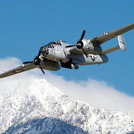 B-25 Pacific Princess with Mt. Baldy by Camm Kirk