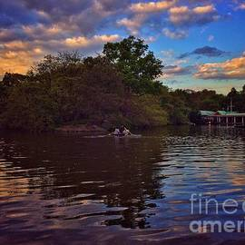 Back to the Boathouse - Dusk at the Lake - Central Park New York by Miriam Danar