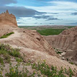 Badlands National Park Landscape by Joan Carroll