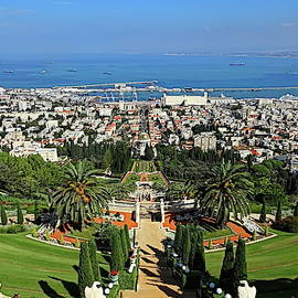 Bahai Shrine and Gardens, Haifa, Israel by Lyuba Filatova
