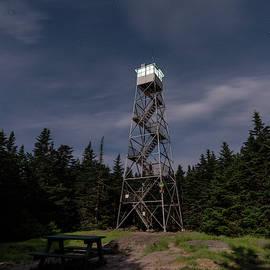 Balsam Lake Mountain Firetower Moonlight by Brad Wenskoski