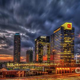 Banking Giants 2 Atlantic Station Sunset Atlanta Georgia Art by Reid Callaway