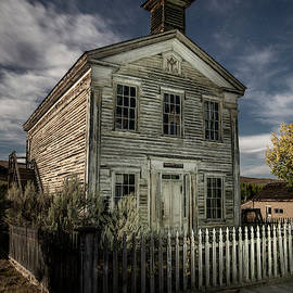 Bannack Lodge under a Big Sky Night by Stephen Stookey