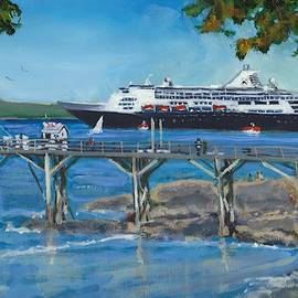 Bar Harbor Visitors by Bill Tomsa