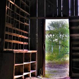 Barn Bench Shelves by Frederick Hahn