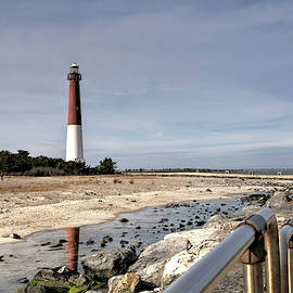 Barnegat Lighthouse and boardwalk by Geraldine Scull