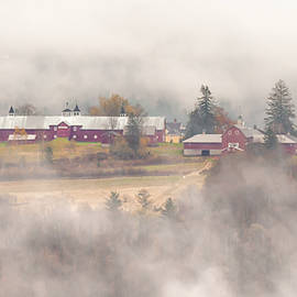 Barns in the Fog by Tim Kirchoff