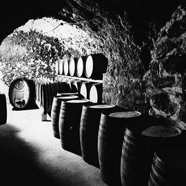 Barrels At The Beringer Brothers Winery by Hulton Archive